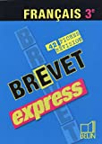 echange, troc Sharmila Marius-Beaumont - Brevet express Français 3e : 42 fiches de révision