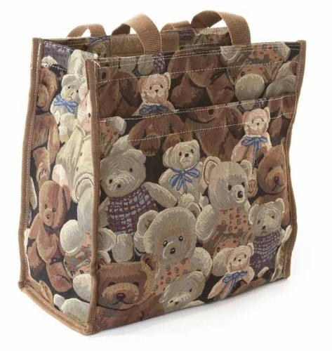 Tapestry City Tote/(small) Shopping Bag (Gobelin Style) Teddy Bears