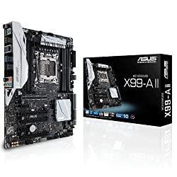 Asus X99-A II - LGA2011v3 MotherBoard (LGA2011v3, X-Series Support, DDR4 Upto 128GB 3333+OC, USB 3.1, 3-WAY SLI/CrossFire)