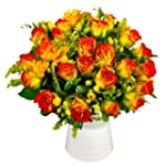 Roses and Freesia - Fresh Flower Bouq...