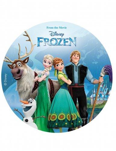 Disco decorativo per torte Frozen-Il Regno di ghiaccio