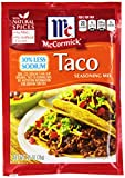 McCormick Low Sodium Taco Seasoning, 1.25 oz, 6 Pack - 6 pk.