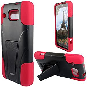 Zizo HYBRID PC/SC Combo Cover with Kickstand for Alcot - Retail Packaging - Red