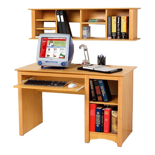 Buy Low Price Comfortable Prepac Maple Computer Desk and Hutch (B0001WD78O)