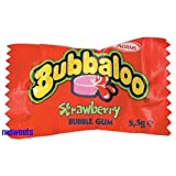 Bubbaloo Strawberry Bubble Gum 60 in a box
