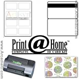 10 ID Card Kit for Inkjet Printers. Includes ID Laminator, Synthetic Teslin Paper, ID Badge Holograms