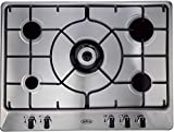 Belling GHU70GE 5 Burner 70cm Gas Hob with Enamel Supports in Stainless Steel