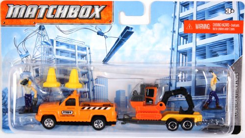 Matchbox Hitch N Haul Constuction Truck & Excavator