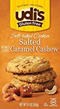 Udi's Gluten Free Soft Baked Cookies, Salted Caramel Cashew, 9.1 Ounce