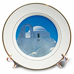 Danita Delimont - Greece - Typical Greek architecture, Mykonos, Greece - 8 inch Porcelain Plate (cp_227422_1)