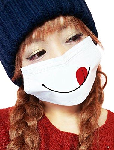 【20枚入】ペロり柄プリントマスク(かわいいマスク)(個包装)印刷柄マスク