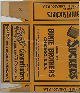 Bunte Brothers Candy Box (Caramel Suckers) Chicago