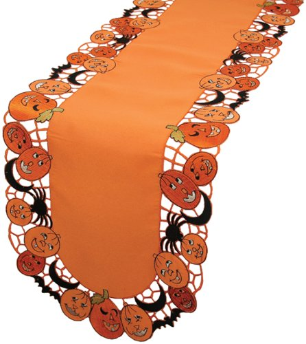 Xia Home Fashions Happy Jack-O-Lanterns Table Runner, 15 By 54-Inch front-514749