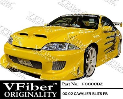 Chevrolet Cavalier 00-02 2dr VFiber PURE-FRP Blits 4-piece Body Kit Perfomance Front & Rear bumper cover plus side skirts 2000,2001,2002