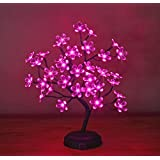 Lightshare 18-inch Crystal Flower LED Bonsai Tree, Pink Light, 36 LED Lights, Battery Powered Or DC Adapter(not...