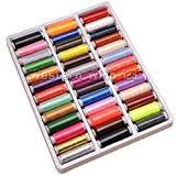 Wocharm TM 39 Spools Rainbow Assorted Colour Colors Polyester Sewing Thread Box Kit Set Ideal for Quilting Stitching Hand Sewing Machine Sewing Embroidery Threads Polyester DIY Craft