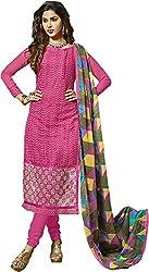 Zohra Vol 2 Women's Georgette Unstitched Dress Material(54007, Dark Pink)