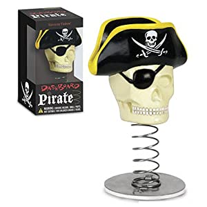 Dashboard Pirate Skull Bobblehead