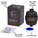 Aqua Elegante High Output Luxury Shower Filter - Best Chlorine Removing Filtration System & Cartridge - Oil-Rubbed Bronze