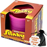 Original Plastic Slinky, Assorted Colors with Free Storage Bag