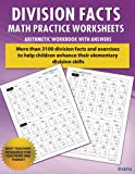 img - for Division Facts Math Practice Worksheet Arithmetic Workbook With Answers: Daily Practice guide for elementary students and other kids (Elementary Division Series) (Volume 1) book / textbook / text book