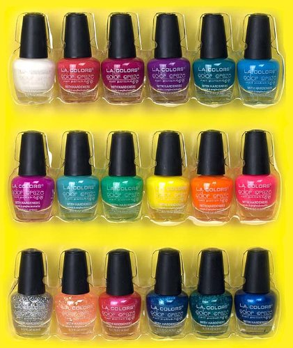 LA Colors Color Craze Nail Polish 18pc Mini Nail Polish Collection ...