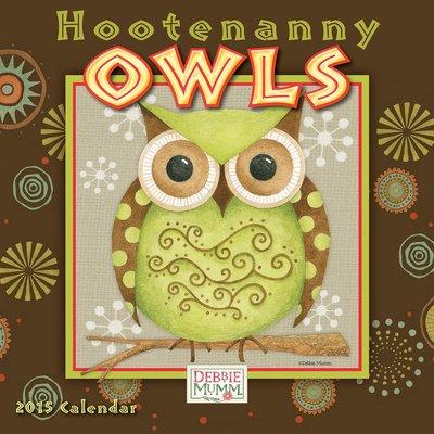 (7X7) Hootenanny Owls - 2015 Mini Calendar