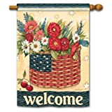Patriotic Welcome Banner Flag - Freedom Basket