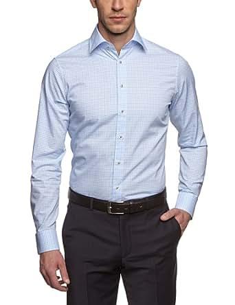 Schwarze Rose Herren Slim Fit Businesshemd PAUL PATCH 228308, Gr. X-Large (Herstellergröße: 44), Blau