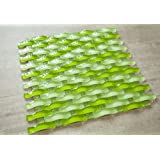 Sea Wave (3D Waves) - Green Color Arch Glass Tile
