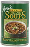 Amy's Hearty Organic Soups, Rustic Italian Vegetable, 14.0 Ounce (Pack of 12)