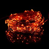 NEWSTYLE-33Ft-10M-Copper-LED-Lights-Strings-100-LEDs-on-Copper-Wire-33ft-LED-Starry-Light-with-12v-Power-Adapter-For-Christmas-Wedding-and-Party-Orange