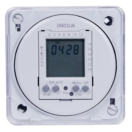 Intermatic Fm1D20E-24 16A, 24V, 50/60Hz Electronic 24-Hour/7-Day Timer Module, Flush Mount
