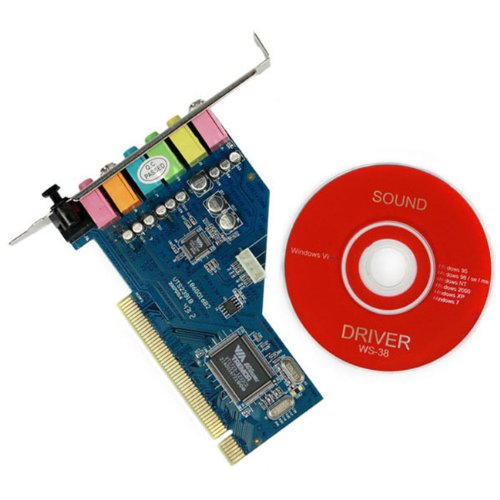 New Full Duplex Srs 3D Audio Mic Stereo Pci Sound Card Game Midi Digital Port