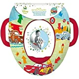 Disney Cars Padded Kids Potty Toilet Training Seat With Handles WC Child Toddler