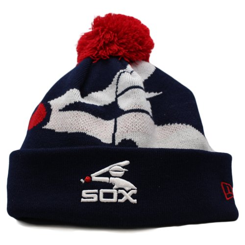 New Era Chicago White Sox MLB Woven Biggie Knit Cap with Cuff OSFA at Amazon.com
