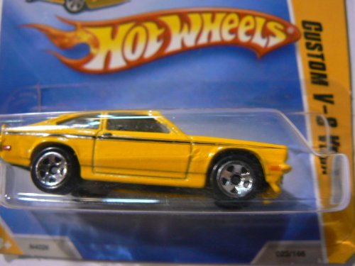 Hot Wheels 2009 Hw Premiere Custom V-8 Vega (Yellow) on Short Card #023/166 - 1