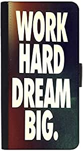 Snoogg Work Hard Dream Bigdesigner Protective Flip Case Cover For Htc One X
