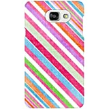 AMAN Colourful Line Pattern 3D Back Cover For Samsung Galaxy A7 2016