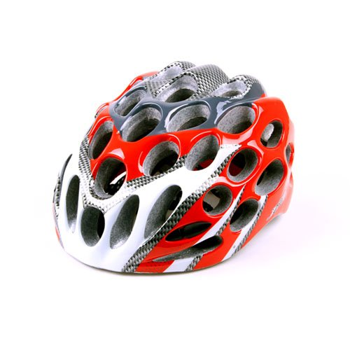 Red In-Mold Light Mount Road Bike Cycling Safety Adult Helmet 39 Vents L 22