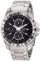 Armitron Men's 20/4739BKSV Stainless Steel Multi-Function Black Dial Bracelet Watch by Armitron
