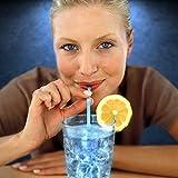 Blue Glow Stick Drinking Straws (Set of 25)