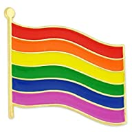 Rainbow Gay Pride Flag LGBT Lapel Pin