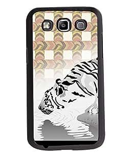 Printvisa 2D Printed White Tiger Designer back case cover for Samsung Galaxy Quattro I8552- D4454