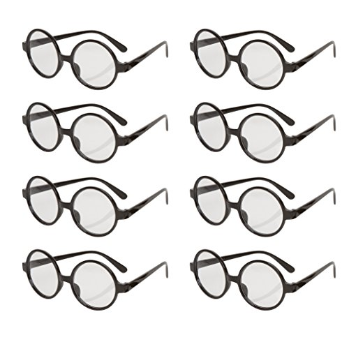 Allures-Illusions-Great-Party-Wizard-Glasses-8-Pack-Black