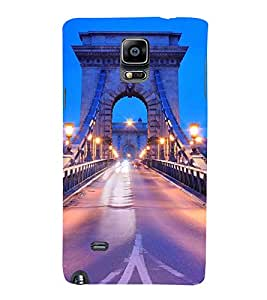 NIGHT VIEW OF BROOKLYN BRIDGE 3D Hard Polycarbonate Designer Back Case Cover for Samsung Galaxy Note 4 N910 :: Samsung Galaxy Note 4 Duos N9100