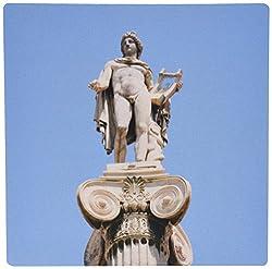 3dRose LLC 8 x 8 x 0.25 Greek Mythology Apollo Statue at Athens Academy Greece Prisma Mouse Pad (mp_81841_1)