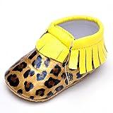 Amazon.co.jp(イスタミコ) Estamico ベビーユニセックススエードヒョウのモカシンは、まず靴をウォーキング 11cm
