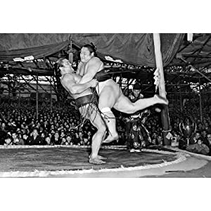 (13x19) Sumo Wrestling Archival Photo Sports Poster Print