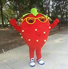 Mascot Costume Adult Character Costume Mascot As Fashion Free Shipping Cosplay Red Strawberry Music